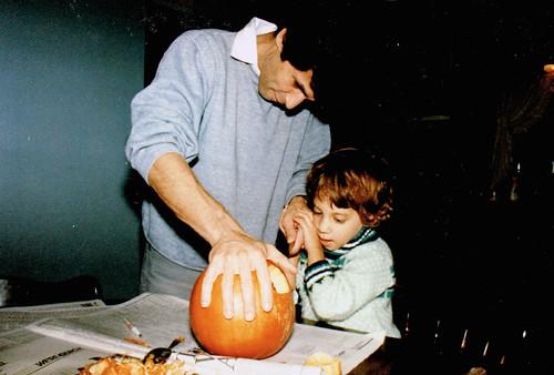 Dad and pumpkin