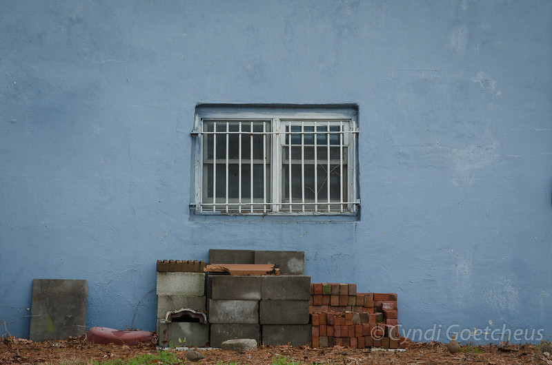 bricks on blue wabi sabi