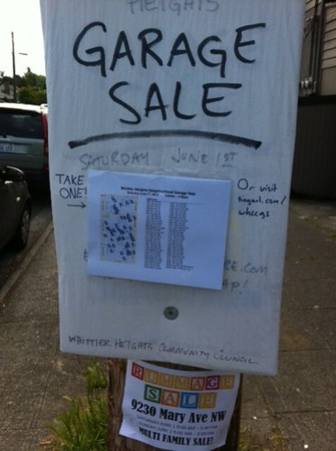 Whittier Heights sale sign