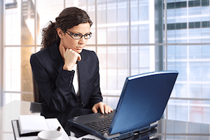 Businesswoman on computer in office