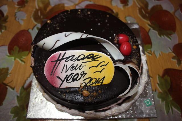 Chocolate caramel New Year Cake