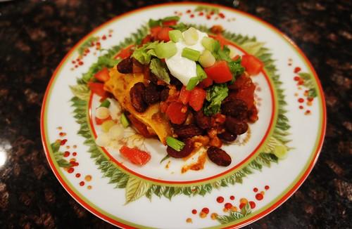"At Home:  Mexican ""Lasagna"""