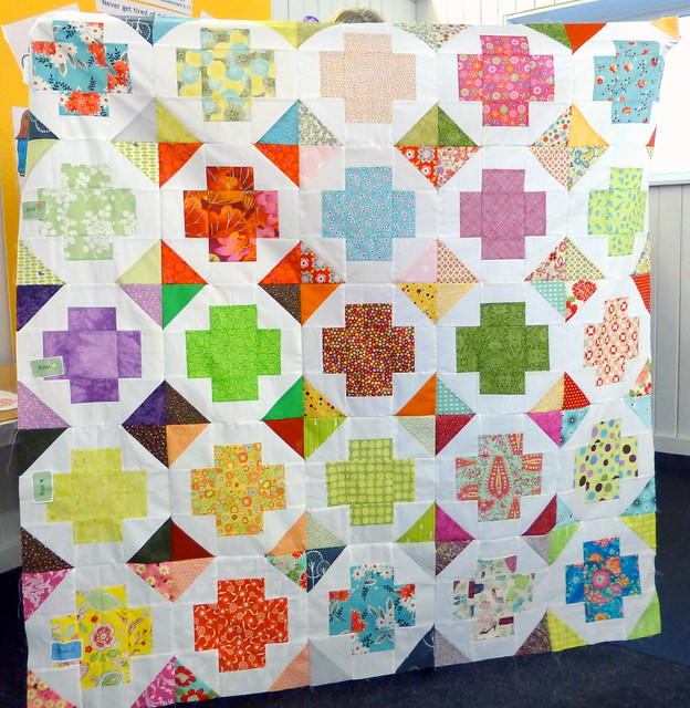 Bee Blessed quilt top - Greek cross
