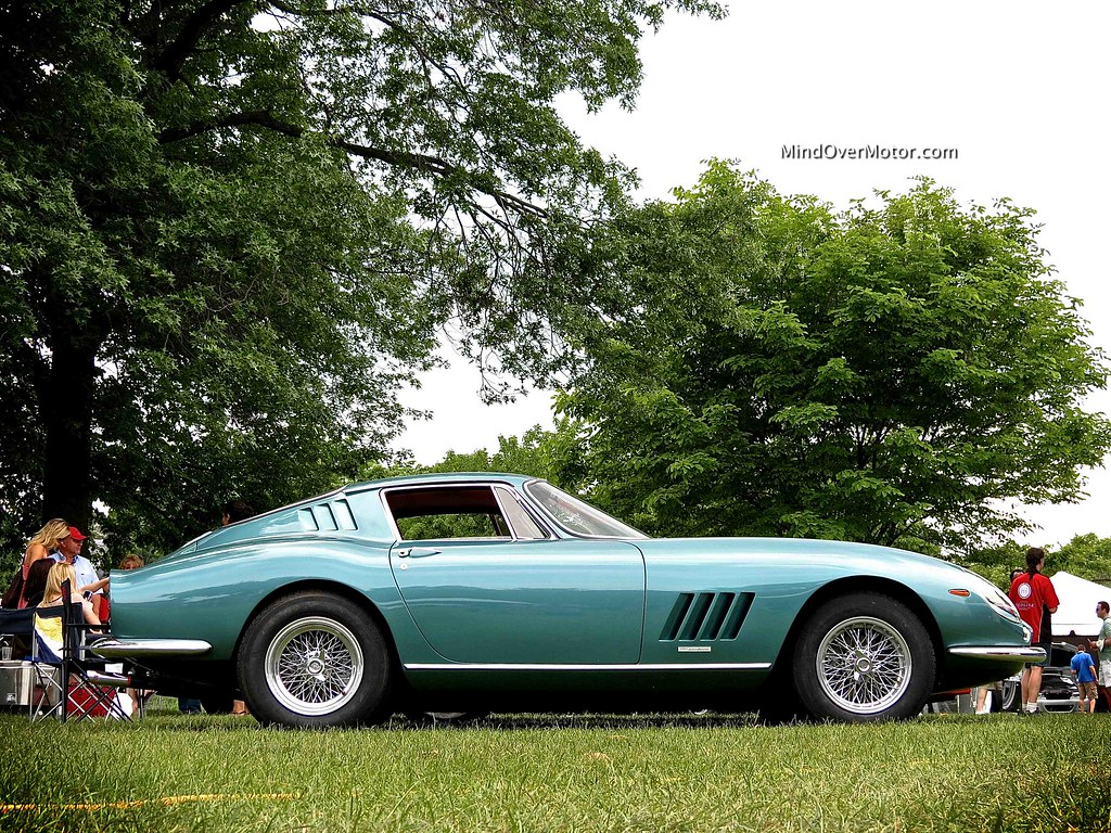 Teal colored Ferrari 275 GTB at the Greenwich Concours d'Elegance