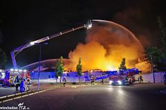 Großbrand Supermarkt Flörsheim 28.07.13