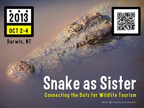 Upcoming workshop in Darwin, Australia: Snake as Sister: Connecting the Dots for Wildlife Tourism #rtyear2013