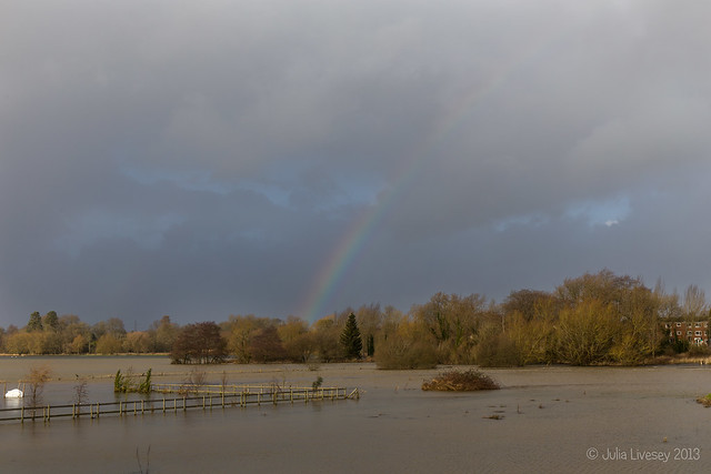 Rainbow over the floods