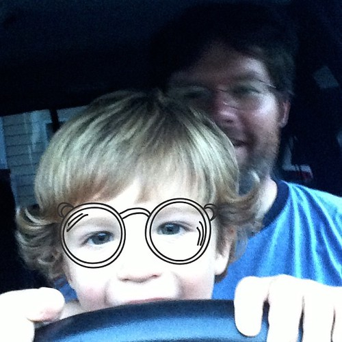 He looks like a granny behind the wheel... #rhonnadesigns_app