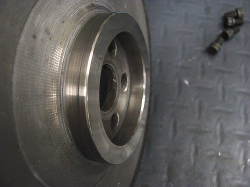 Flywheel Polished Removing Disoloration
