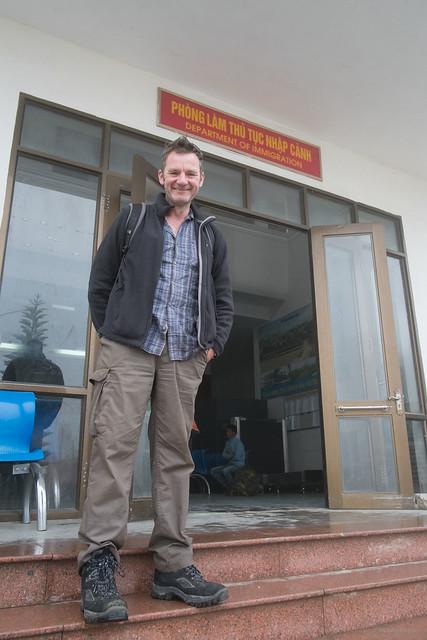 David at border from Laos to Vietnam
