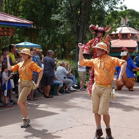 Mickey's Jammin' Jungle Parade。音楽が大好きでした。