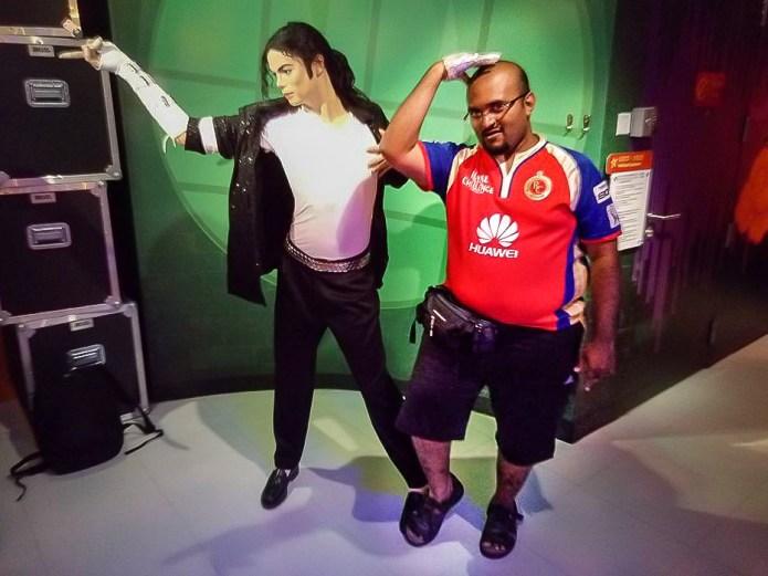 Michael Jackson dance pose Wax Museum Singapore