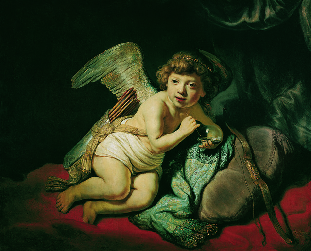 Cupid with the Soap Bubble