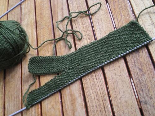 Tricot facile - Gants tricotés au point mousse à 2 aiguilles pour adultes (2/6)