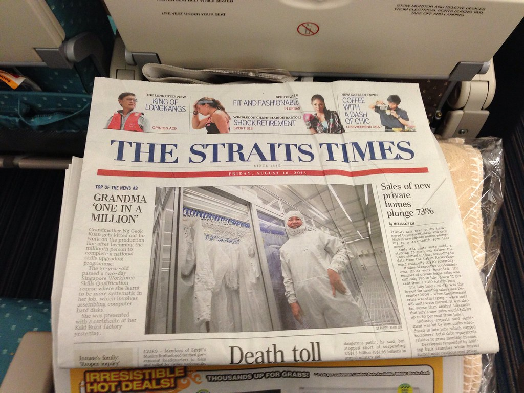 The Straits Times on Singapore Airlines