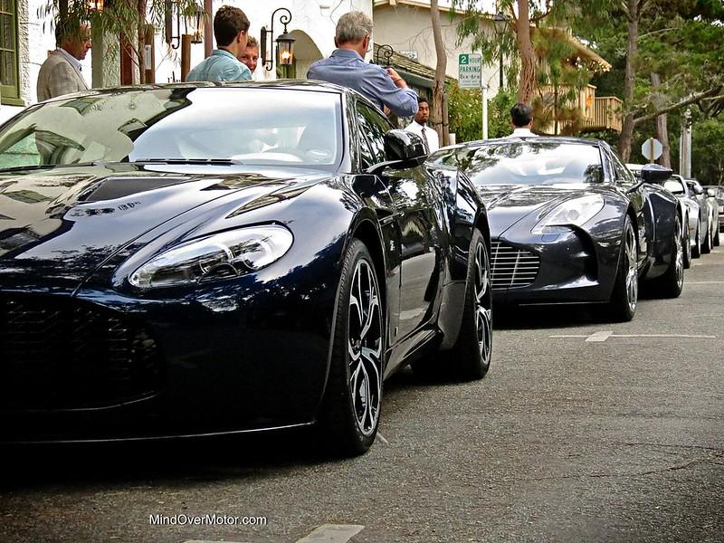 Aston Martin V12 Zagato and One-77 Spotted in Carmel, California