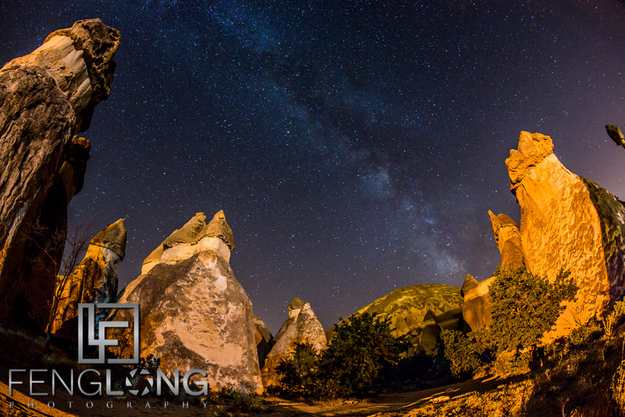 Shooting the Milky Way at Pasabagi in central Turkey