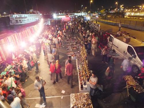 The night shopping in Eminönü