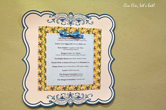 baby shower - menu