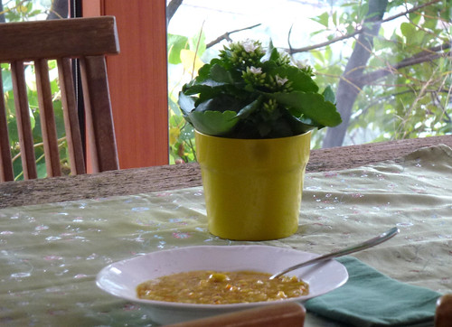 Fava & Carrot soup with orange - Zuppa di fave e carote all'arancia
