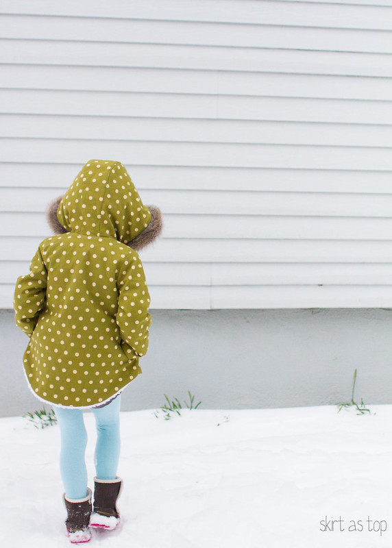 polka dot sherpa coat
