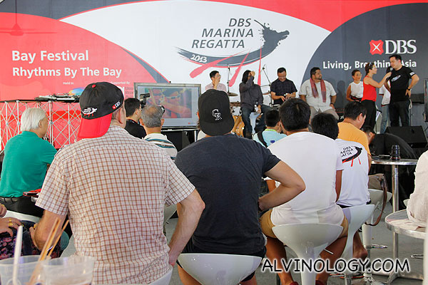 Award ceremony for the best instagram photos on DBS Marina Regatta via #DBSMarinaRegatta2013