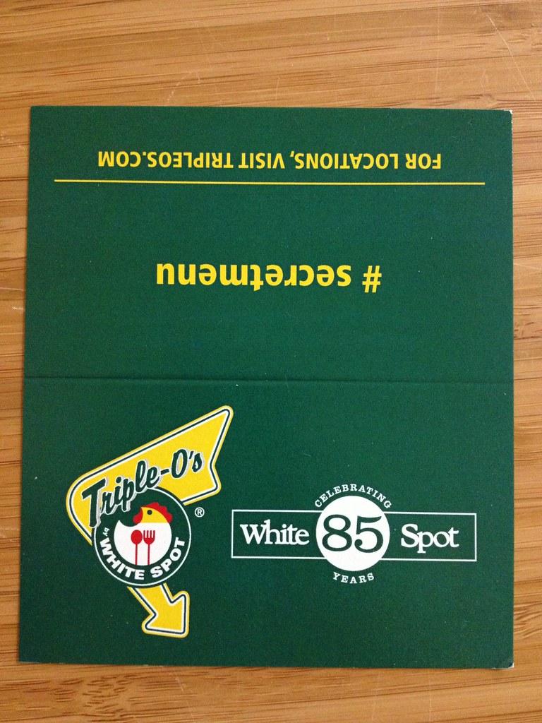 Triple O White Spot