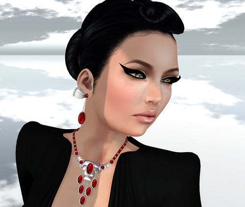 Necklace Earrings Gewunjo