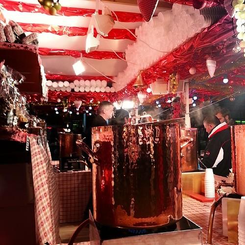 Vin chaud. Christmas market at Saint Lazare.  #Paris