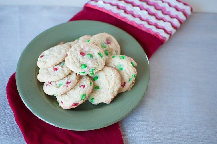 Eggnog M&M Cookies