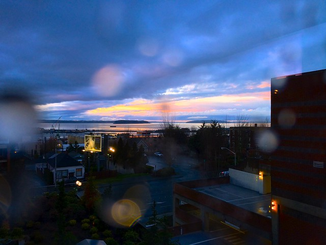 Everett rainy sunset