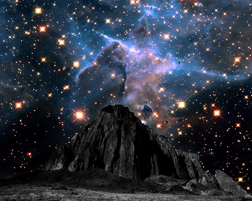 Mystic Mountain Nebula Fantasy