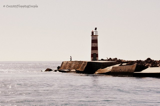 First View of Ilha Deserta in Ria Formosa Faro Portugal Barreta+Island
