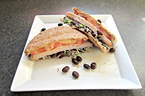 Cilantro Lime Black Bean Panini 2