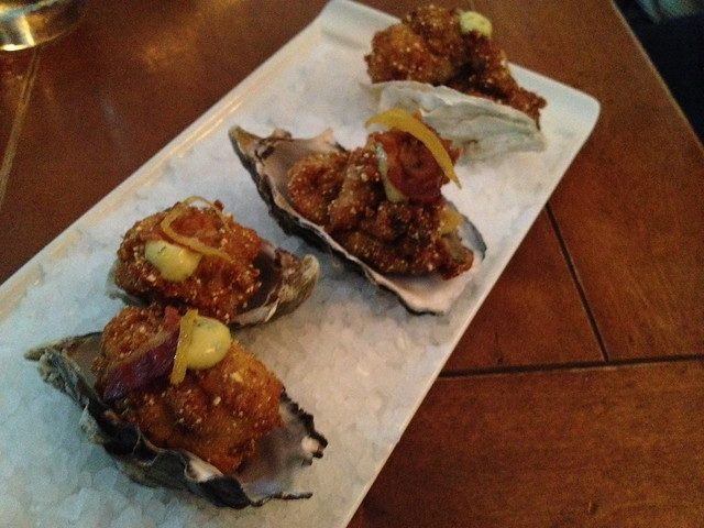 Cornmeal fried oysters - Town Hall