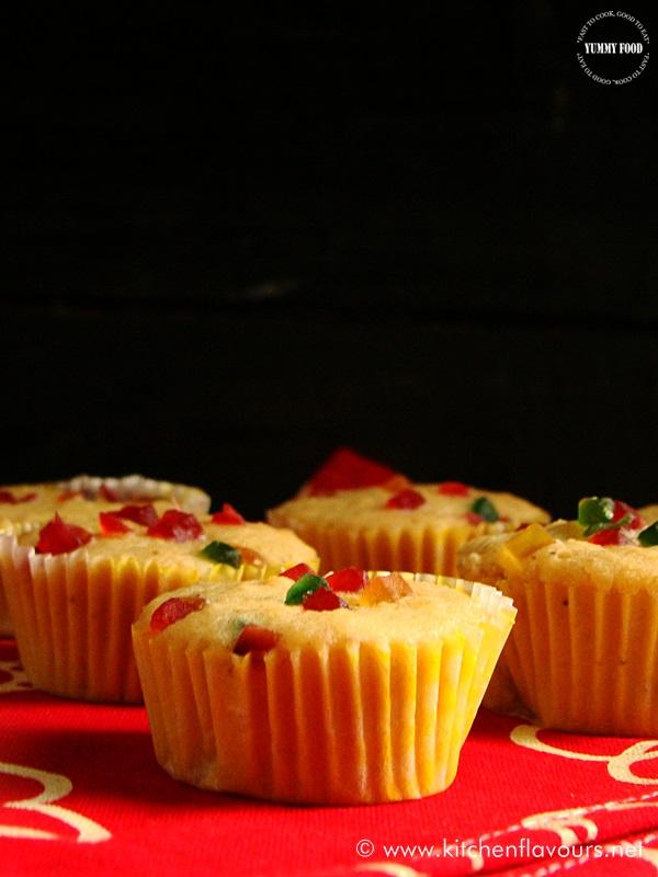 1 Minute Eggless Microwave Apple-Cinnamon Muffins