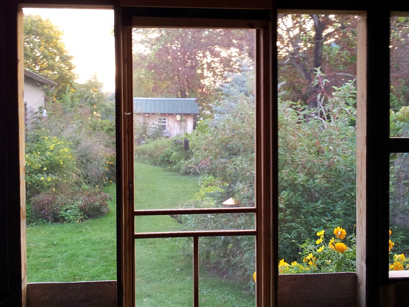 Back porch view Sept 2013