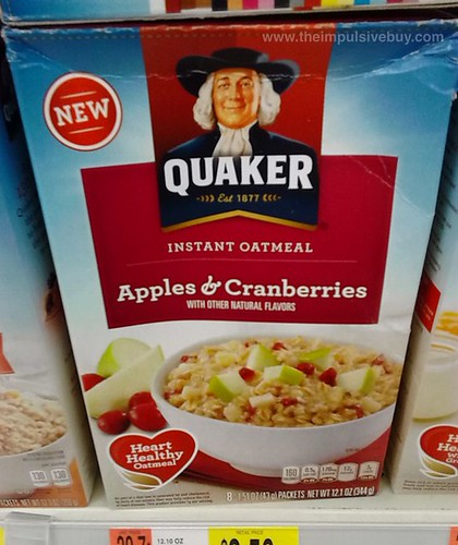Quaker Apples & Cranberries Instant Oatmeal