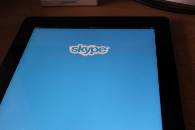 Skype on an iPad