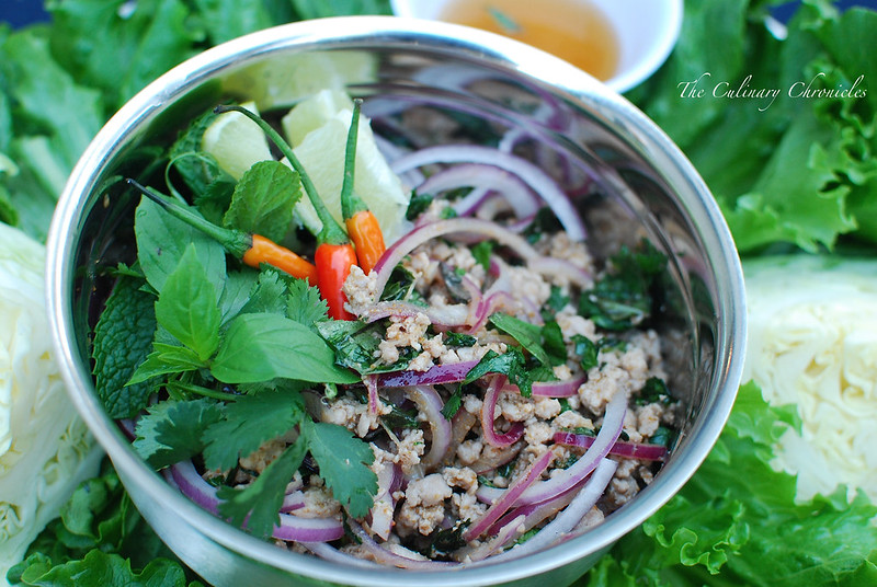 Isaan) Pork Larb Gai – Thai Minced Pork Salad | The Culinary ...