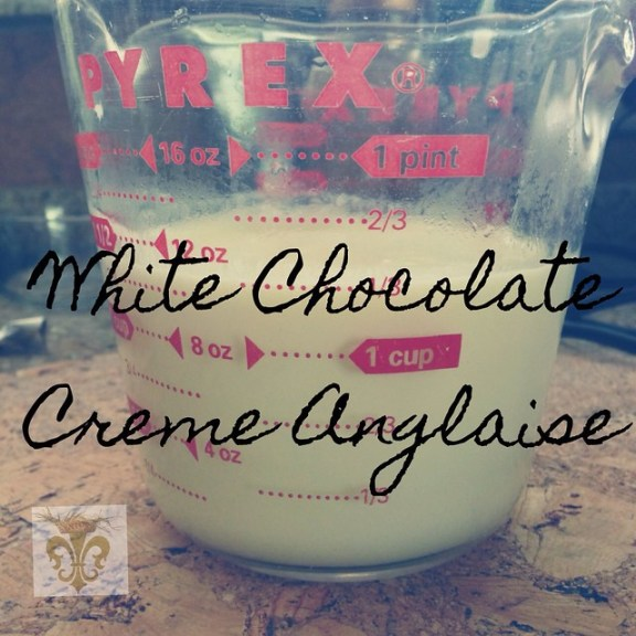 White Chocolate Creme Anglaise