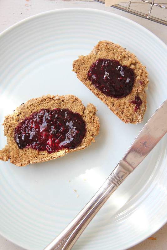 soda bread with berry compote