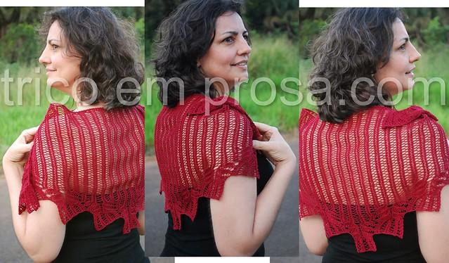 trico em prosa - uma prenda delicada - Xale Geschenk