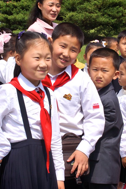 Young Pioneers at the Mangyongdae Native House North Korea