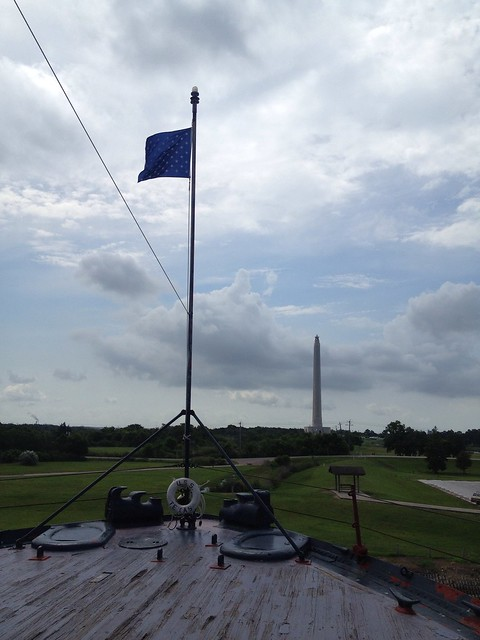view of monument from battleship texas