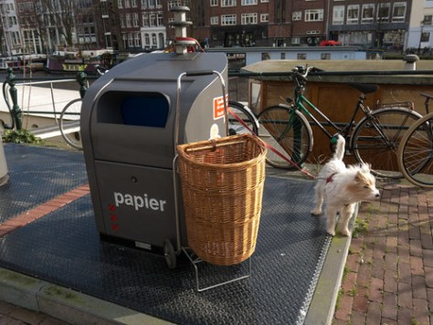 Spring cleaning, paper recycling