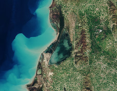 Karavasta Lagoon, Albania (Amongst first release from Sentinel-2B)