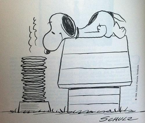 Snoopy pancakes