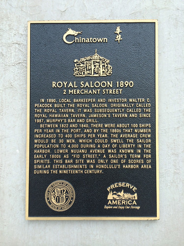 Royal Saloon plaque