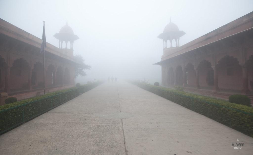 West Entrance in Fog